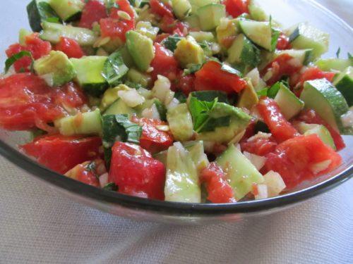 An Amazing Cucumber Tomato and Avocado Salad