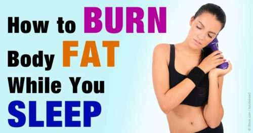Burn Fat While you Sleep With this Mixture